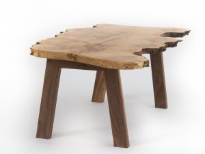 Live edge burr oak coffee table