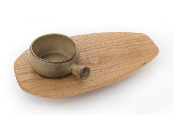 Soup Bowl with Oak Side Board