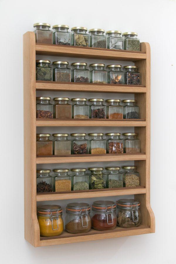 Large Oak Spice Rack