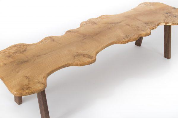 Large Burr Oak Coffee Table Side