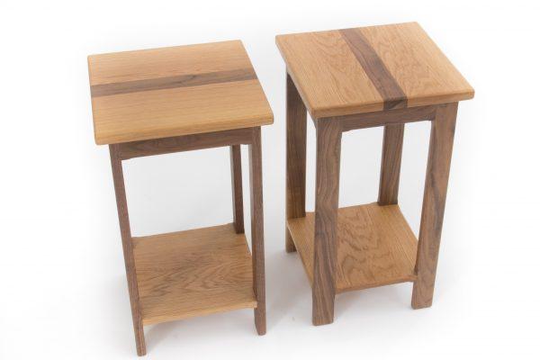 Oak Walnut Side Tables