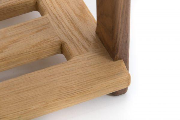 Oak Side Table Shelf