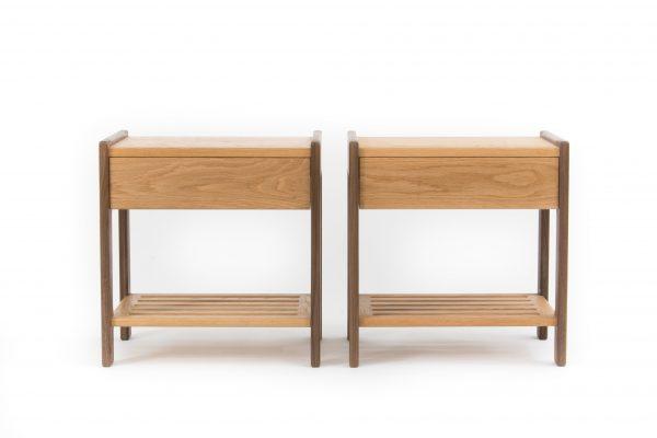 Harker Oak Side Table Pair