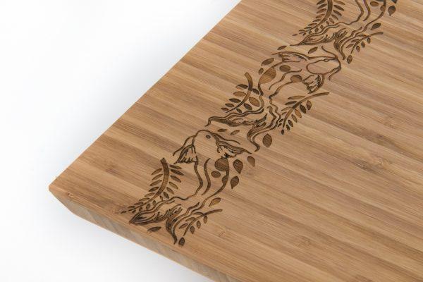 Oriental Bamboo Chopping Board angle