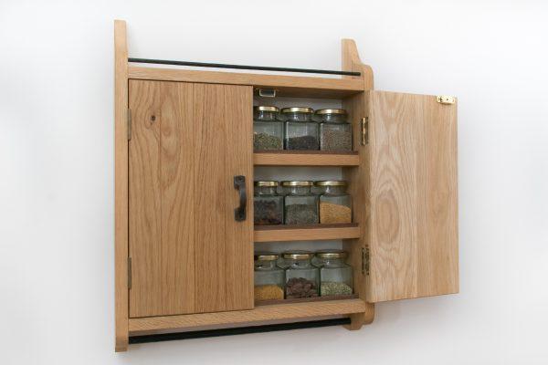 Oak Spice Cupboard Rack